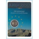 Andorra  2014 Cartera Oficial  Moneda de 2€ conmemotativos  Consell de Europa