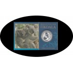 Australia 1/10 onza 2014  Koala Coin Card  Plata