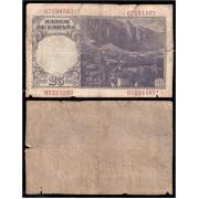 España Billete 25 Pesetas 1946 Flórez Estrada Error Impresión