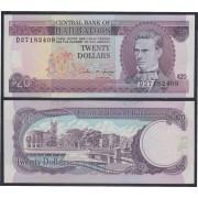 Barbados 20 dolares 1993 Billete Banknote Sin Circular