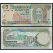 Barbados 5 dolares Billete Banknote Sin Circular