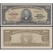Cuba 20 1960  pesos Billete Banknote sin circular