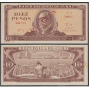 Cuba 10 pesos 1971 Billete Banknote Specimen sin circular