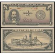 Cuba 1 peso 1975  Billete Banknote circulado