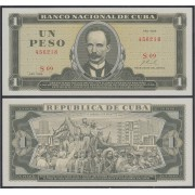 Cuba 1 peso 1968 Billete Banknote sin circular