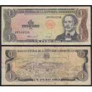 República Dominicana 1 peso 1988 Billete Banknote Circulado