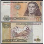 Perú 500 soles 1987 Billete Banknote sin circular