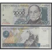 Venezuela 2000 bolívares 1998 Billete Banknote Sin Circular