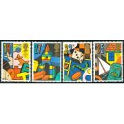 AJZ1  Gran Bretaña  UK   Nº 1380/3  Ajedrez 1989   MNH