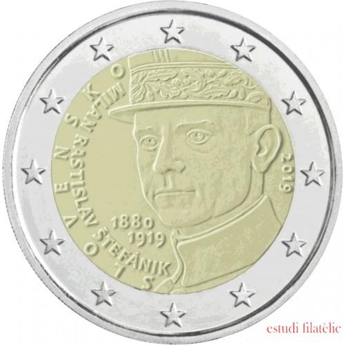 Eslovaquia 2019 2 € euros conmemorativos Milan Rastislav Štefánik