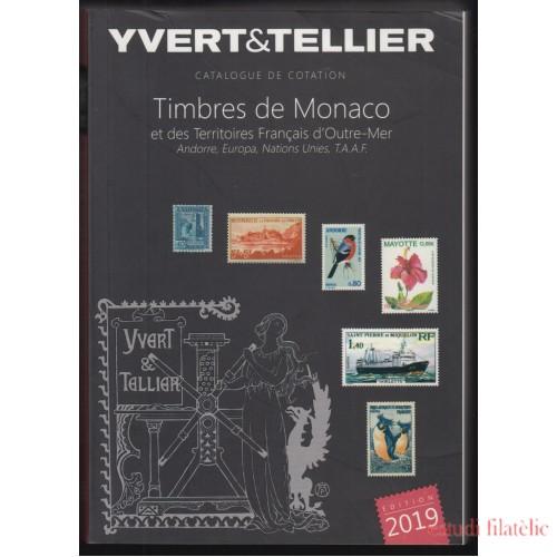 Catálogo Yvert 2019 I Bis Mónaco Terrirorios franceses Ultramar