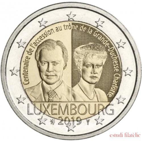 Luxemburgo 2019 2 € euros conmemorativosGran Duquesa Carlota