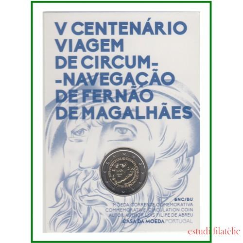 Portugal 2019 Cartera Oficial Coin Card Moneda 2 € Magallanes