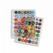 Leuchtturm 344398 Hojas de plástico COMPART para 42 placas de cava/chapas, transparentes, paquete de 5