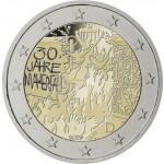 Alemania 2019 2 € euros conmemorativos Muro de Berlín   ( 5 cecas )