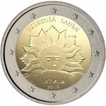 Letonia 2019 2 € euros conmemorativos Sol naciente