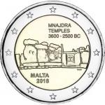 Malta 2018 2 € euros conmemorativos Templos de Mnajdra