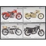 Malta 1480/83 2007 Motocicletas MNH