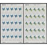 Upaep Brasil 2136/37 1993 Hojas Completas Anodorhynchus Pájaros bird papagayos MNH