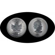 Canadá Canada 2018 1 Oz Plata Silver 5 $ Maple Leaf
