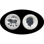 Australia 2019 1 OZ onza de plata 1 Dólar  Year of the Pig Cerdo 999 Ag