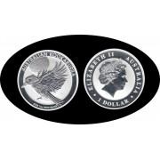 Australia 2018 1 Oz onza de plata 1 Dólar  Kookaburra 999 Ag