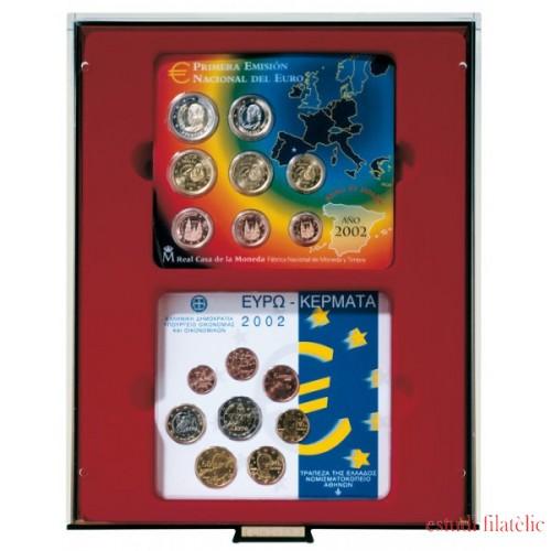 Lindner 2855 Bandeja doble 140 x 123 mm compartimento rectangular 2 X 5 Euro Alemania