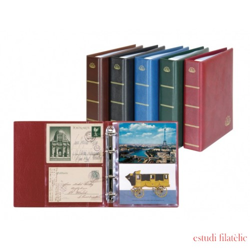 Lindner 5800-S  Álbum postal LOTOS Negro