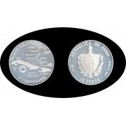 Cuba 10 pesos 1990 20 gramos Cristóbal Colón V Centenario plata silver