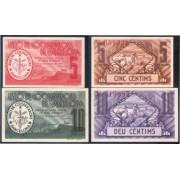 Billete local 1937 Unió de Cooperadors de Barcelona 5 i 10 céntims