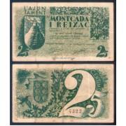Billete local 1937 Ajuntament de Montcada i Reixac 25 centims