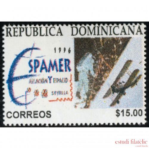 España Spain Emisión Conjunta 1996 Espamer 96 Dominicana España Exposición Filatélica sobre la aviación y el espacio