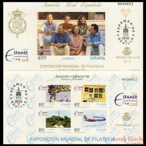 España Spain Emisión Conjunta 1996 Espamer 96 España Chile Familia Real Española