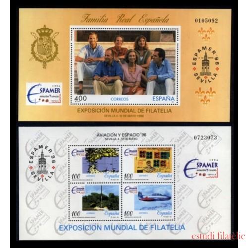 España Spain Emisión Conjunta 1996 Espamer 96 España - Chile Familia Real Española Exposición Mundial de Filatelia