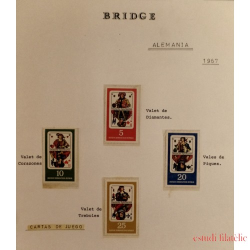 Colección Collection cartas Bridge MNH