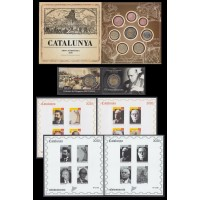 Catalunya Set Completo Pruebas Filatélicas Numismáticas Euros 2020