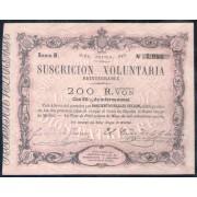 España Billete 200 Reales de Vellón 1870 Tour de Peilz  SC