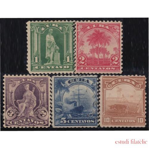 Cuba 142/46 1899/02 Cristóbal Colón Palma Real MH