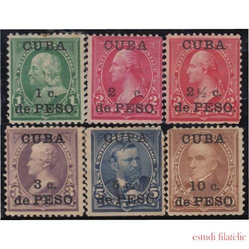 Cuba 136/41 1899 Sellos de Estados Unidos MH