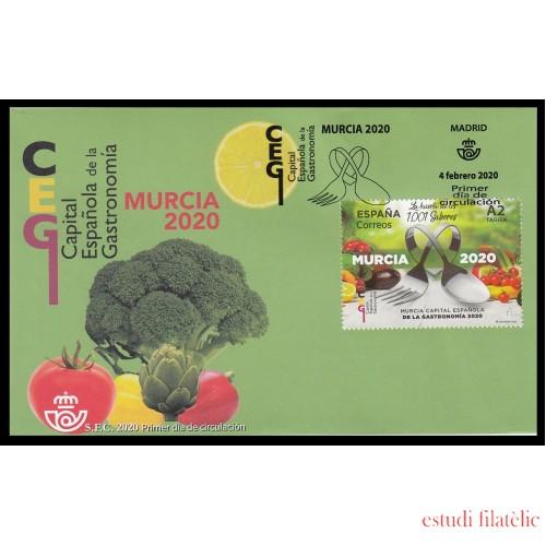 España Spain 5379 2020 Capital de la gastronomía española Murcia SPD Sobre Primer Día