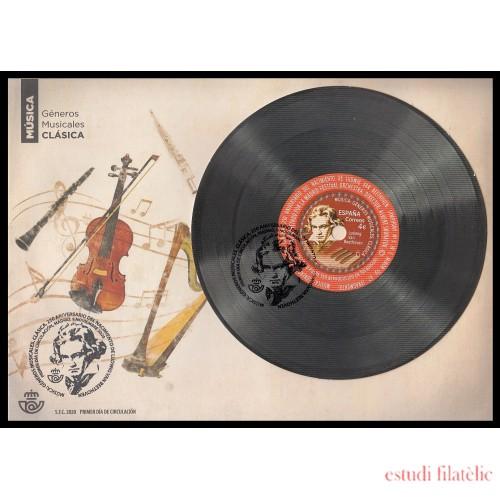 España Spain 5446 2020 Música Clásica Sinfonía nº5 Ludwig van Beethoven SPD Sobre Primer Día