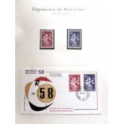 Colección Collection Esposición de Bruselas 1958  SPD + sellos
