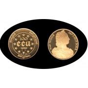 Bélgica Belgium Belgique 100 ecus 1989 2 onzas Oro  gold Au