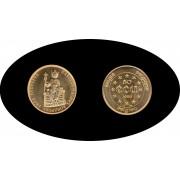 Bélgica Belgium Belgique 50 ecus 1989 Oro Au