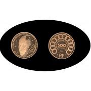 Francia France 500 francs 70 ecus 1992 Monnet KM#1013 gold Au