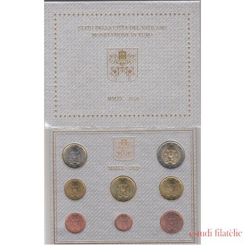 Vaticano 2020 Cartera Oficial Monedas € euros Pontificado del Papa Francisco