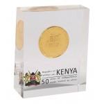 Kenia Kenya 50 Shillings 2013 28g Moneda chapada en oro Aniversario Independencia