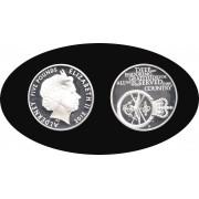 Alderney 2012 5 libras Escudo Shield Moneda de Plata