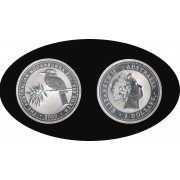 Australia Kookaburra 2000 2 onzas de plata 2$ 999 Ag