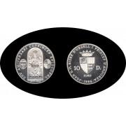 Andorra 31,76 gr 1996  XXV Aniversario Coprinced Episcopal Plata Ag
